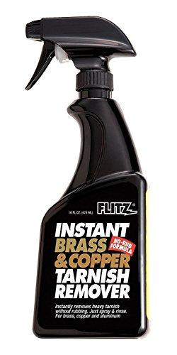 Copper Polish - Flitz BC 01806 Light Brown Instant Brass and Copper Tarnish Remover, 16 oz. Spray Bottle