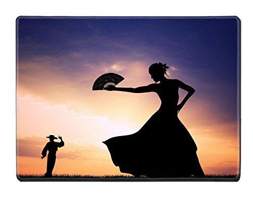 [Luxlady Placemat IMAGE ID 21164112 Flamenco silhouette at sunset] (Female Flamenco Dancer Costumes)