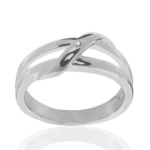 Secret Diamonds - Bague - Argent sterling 925 - Bijoux pour femmes - En plusieurs tailles, bague diamant, bijoux en argent, bijoux en diamant - 60250114