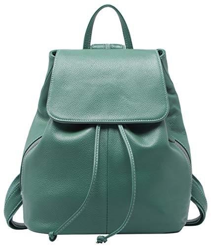 (Genuine Leather Backpack for Women Elegant Ladies Travel School Shoulder Bag (11.42