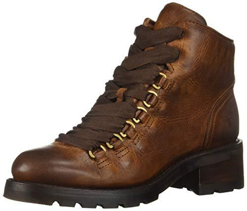FRYE Women's ALTA Hiker Combat Boot, Cognac, 9 M US