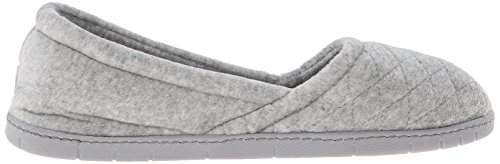 Women's Light A Microfiber Grey Line Flat Velour Dearfoams Heather SgPqg
