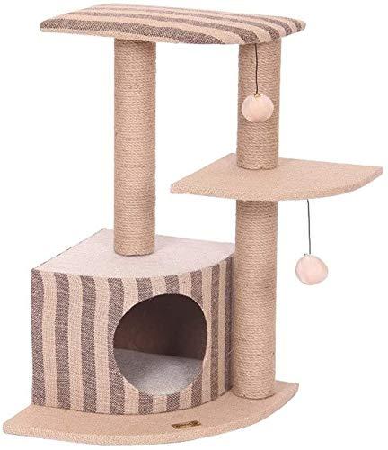 FTFDTMY Schlafzimmer Kleine Katze Klettergerüst, Kratzbaum Kratzsäule Katzensprungplattform Outdoor Pet Supplies Pet…