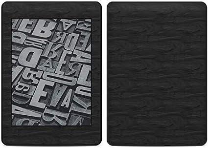 Sticker Decal Kindle Voyage Skin Black Woodgrain