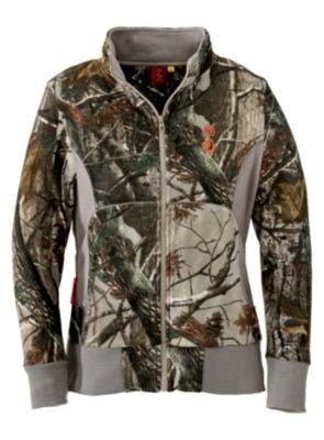 685ec82d Amazon.com : SHE Outdoor Apparel Women's Fleece Zip-Up Pullover ...