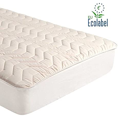 Gotcha Covered Pure Collection King Size 100 Percent Natural Combed Cotton 100 Percent Pure Virgin Carded Cotton Fill Mattress Pad Deep Profile Up To 18 Inch Depth