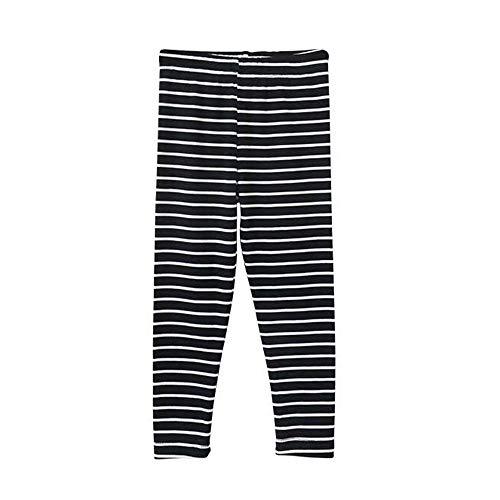 Bear Mall Toddler Girls Leggings Black Leggings Baby Girls Cotton Leggings 2-Pack / 3-Pack (3T/Toddler Girl, Stripe 1P)