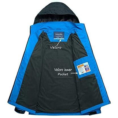 YSENTO Mens Lightweight Waterproof Jacket Windproof Outdoor Camping Hiking Mountain Jacket Coat with Hood 4