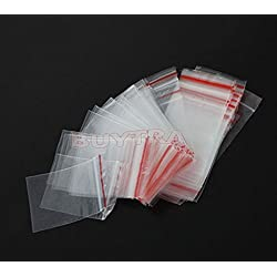 ensunpal store Plastic Zip Jewelry 20Pcs 1#/3#/5# Ziplock Lock Zipped Poly Clear Bags