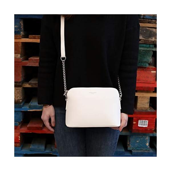 David Jones Piccola Borsa a Tracolla Spalla Donna Catena Borsa Mano PU Pelle Messenger Crossbody Bag Clutch Borsetta… 2
