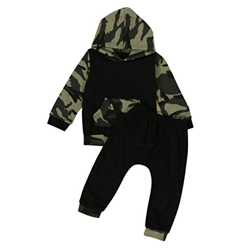 Baby Clothes, Egmy Cute Camouflage Baby Boys Toddler Hood...
