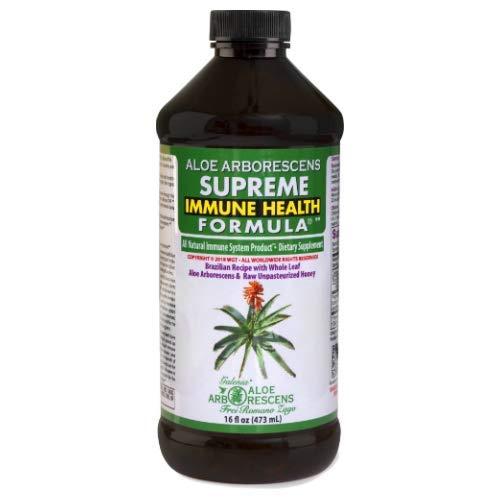 Supreme Immune Health Formula (original Brazilian Father Zago Aloe arborescens recipe) 16oz bottle (1) (Best Type Of Aloe Vera Plant)