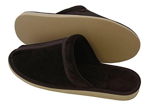 Por Mb51 Confortables Suaves Marrón Para Ligeras Algodón Becomfy Casa De Zapatillas Estar Hombre Pantuflas 77wxzIBCq