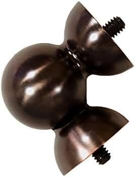 Allen Roth Oil Rubbed Bronze Steel Single Curtain Rod Bracket