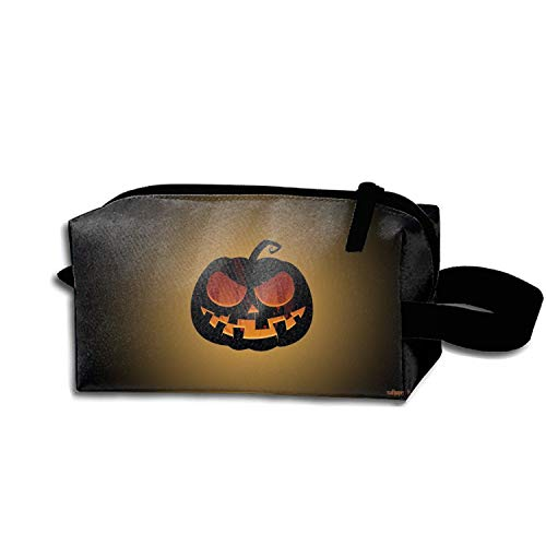 JONHBKD Cosmetic Bag Zipper Storage Bag Portable Ladies Travel Holiday Halloween Jack-o-Lantern Makeup Bag]()