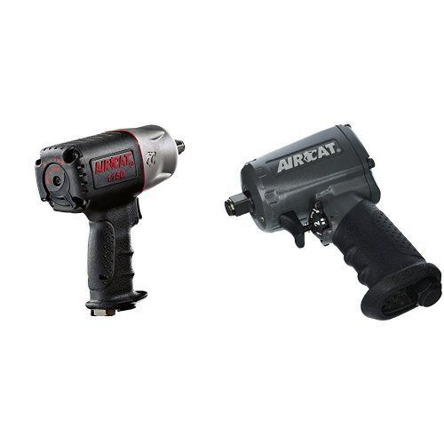 AIRCAT 1150P  (Full-Size 1/2'' Composite Impact Wrench (1150) with FREE Compact 1/2'' Aluminum Impact Wrench (1055-TH) Combination Kit