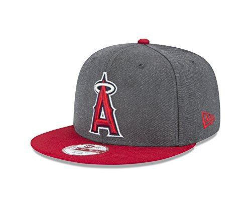 New Era MLB Los Angeles Angels Heather 9Fifty Snapback Cap, One Size, Graphite