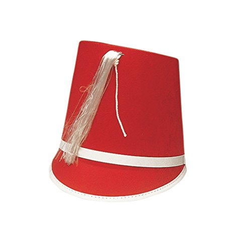 Jacobson Hat Company Men's Permafelt Drum Major 7.5 Inch Tall, Red, Adult Size 7