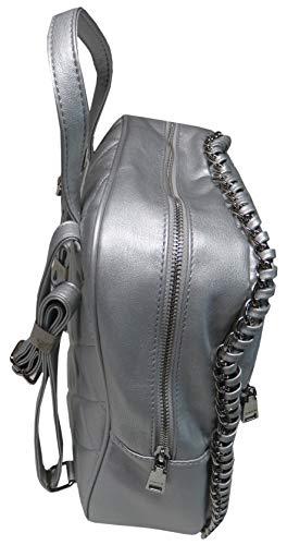Bebe Devon Quiltad ryggsäck silver