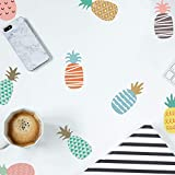 Wall Sticker Decal, Removable Colorful Pineapple Wallpaper for Kid's Room/Bedroom/Living Room, PVC Vinyl Waterproof