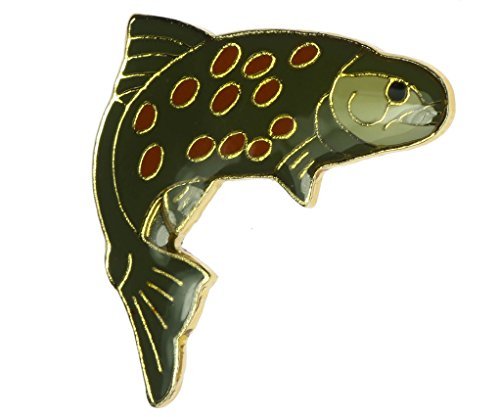 Sujak Military Items Trout River Fish Hat or Lapel Pin -
