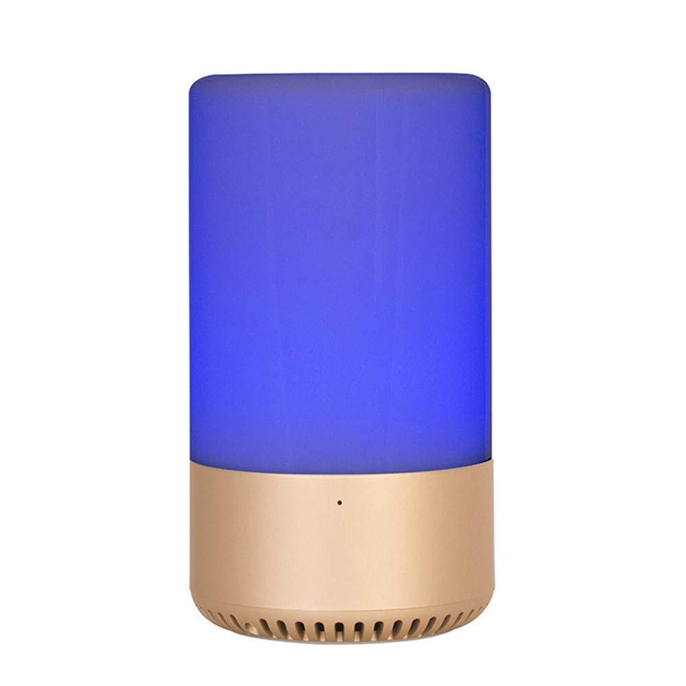 Sonmer Colorful Wireless Bluetooth Speaker, APP Control Touch Color Changing,Smart LED Light Lamp, MP3 Music Player (Gold)