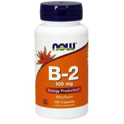 NOW Vitamin B 2 Riboflavin Capsules