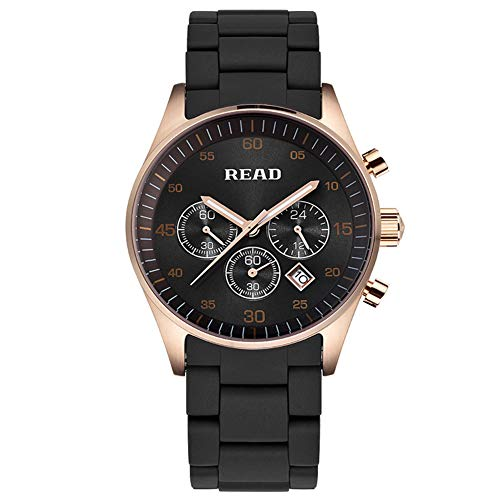 Luxury Waterproof Quartz Watches - Business Casual Chronograph Date Military Brown Wrist Watch - Stainless Steel Case Sport Analogue Watch Brown,A ()