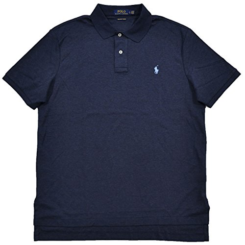 Pima Cotton Polo Shirt (Polo Ralph Lauren Mens Soft Touch Pima Cotton Polo (L, Blue Heathered))