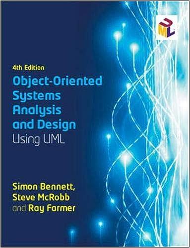 Object Oriented Systems Analysis And Design Using Uml Bennett Simon Farmer Ray 9780077125363 Amazon Com Books