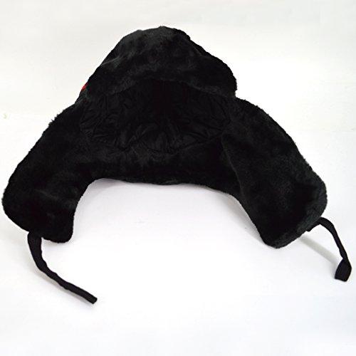 Epais Noir Casquettes Oreille Hiver Aisi Mignon Bonnet Cache Femme Chapeau 7H48gvOq