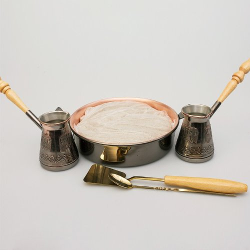 Tete-a-Tete 2 Cezve w/ Hearth & Sand Turkish Coffee Set
