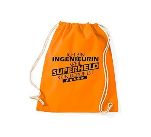 Shirtstown Bolsa de gimnasio Estoy Ingenieurin, weil Superheld sin Trabajo ist Naranja