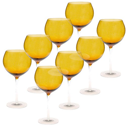 Certified International Red Wine Stemware (Set of 8), 28 oz, Dark Amber ()