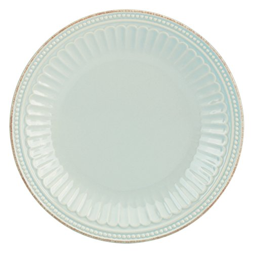 French Dinnerware Salad Plate (Lenox French Perle Groove Accent Plate, Ice Blue)