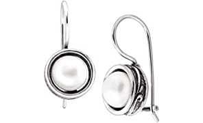 Silpada 'Modern Fairytale' 7.5-8 mm Freshwater Cultured Pearl Drop Earrings in Sterling Silver