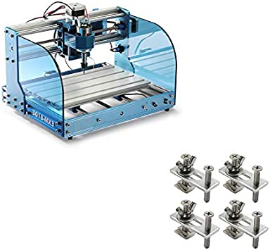 Compatible with 3018-PRO//3018-MX3//3018-PROVer//1810-PRO CNC Router Machine Genmitsu 4PCS T-Track Mini Hold Down Clamp Kit
