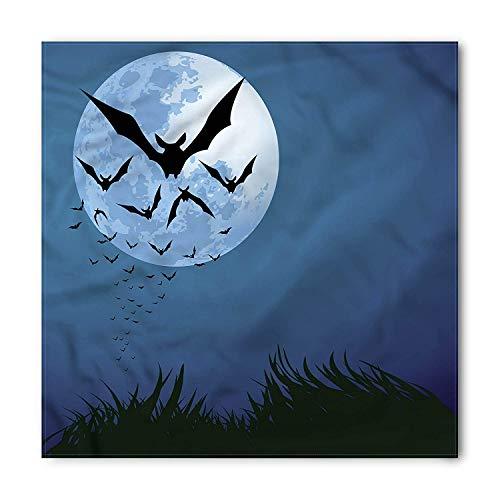Halloween Bandana, Cloud of Bats Flying, Unisex Head and Neck Tie,39.339.3inch