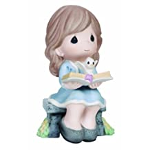 Precious Moments Seated Girl with Bible Figurine