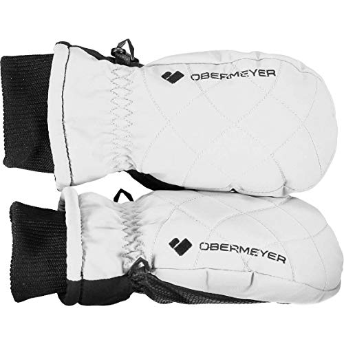 Obermeyer Kids Unisex Puffy Down Mitten (Little Kids/Big Kids) White MD