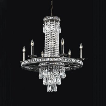 Crystorama Lighting 5266-EB-CL-MWP Chandelier with Hand Polished Crystals, English Bronze
