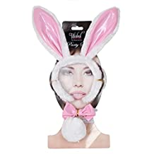 Bunny Fancy Dress Party Accessory Set White Faux Fur Ears Bow Tie Tail Easter
