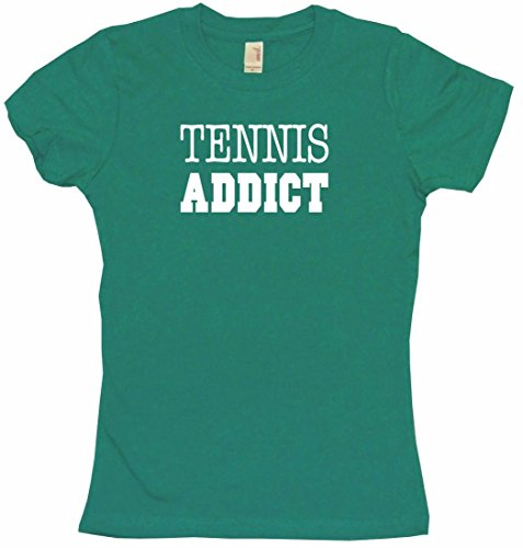 Tennis Addict Women's Babydoll Tee Shirt XL-Kelly Green