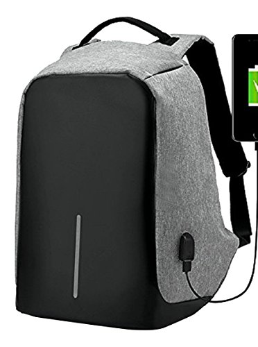 ipack a-001 Anti-Theft USB Port Laptop Backpack, Gray