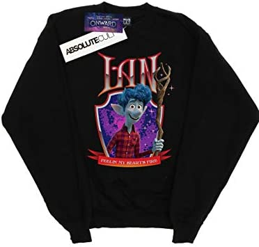 Disney Herren Onward Ian Heart's Fire Sweatshirt Schwarz XXX-Large