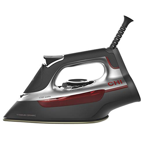 CHI (13101) Steam Iron With Titanium Infused Ceramic Soleplate & Over 300 Steam Holes, Professional Grade (Best Iron With Titanium Anti)