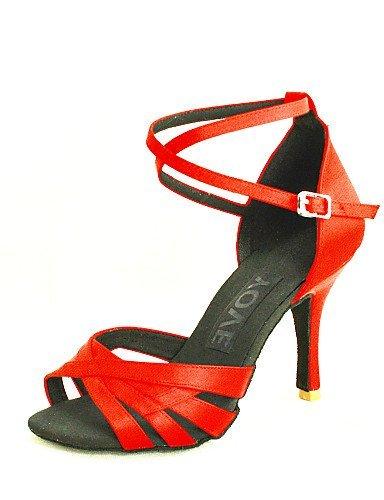 ShangYi Customizable Women's Dance Shoes Latin/Salsa Satin Customized Heel Black/Blue/Yellow/Pink/Purple/Red/White/Fuchsia Yellow ZNZBhiK7