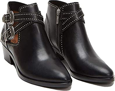 FRYE Womens Ray Deco Western Shootie Ankle Boot