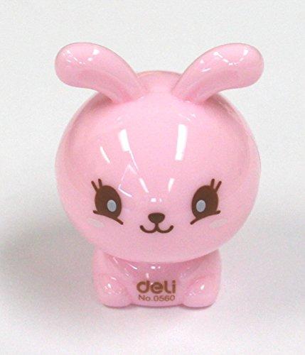 - eSmart Rabbit Shaped 8mm Diameter Single Holes Manual Pencil Sharpeners in Yellow Blue Pink White (Pink)