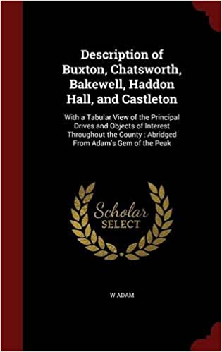 Book Description of Buxton, Chatsworth, Bakewell, Haddon Hall, and Castleton: With a Tabular View of the Principal Drives and Objects of Interest ... County : Abridged From Adam's Gem of the Peak